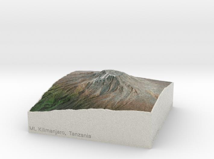 Kilimanjaro, Tanzania, 1:150000 Explorer 3d printed
