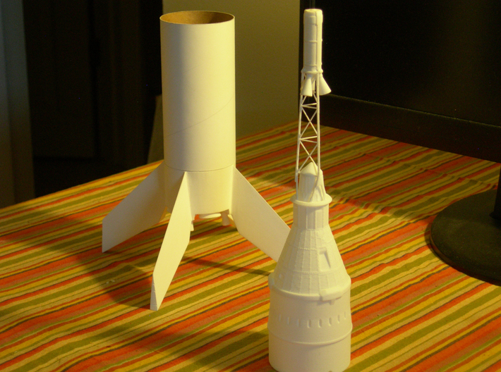 Little Joe 5B Mercury Capsule for BT-70 scale 3d printed Fin Unit Shown with LJ-5B Capsule Set sold separately