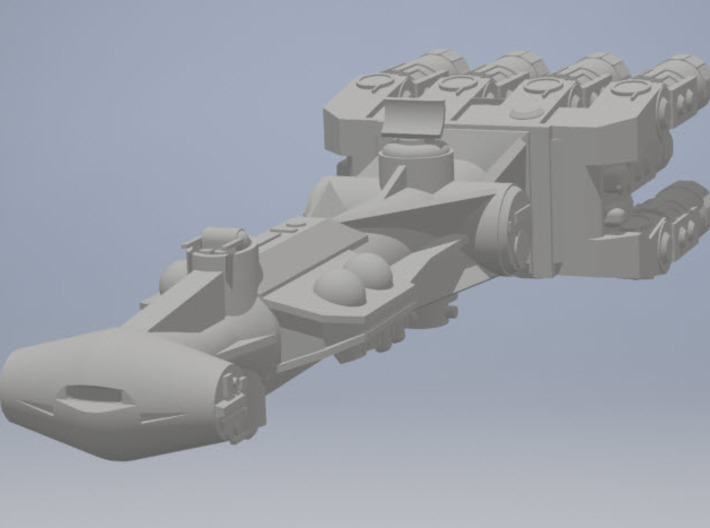 1:2700 Rebel Blockade Runner Zvezda Star Destroyer 3d printed Render of assembled parts