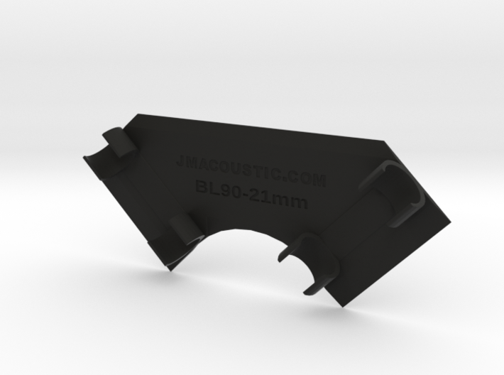 Stereo Boundary Mic Clip 90/21mm 3d printed Boundary mount may be fastened to any flat surface.