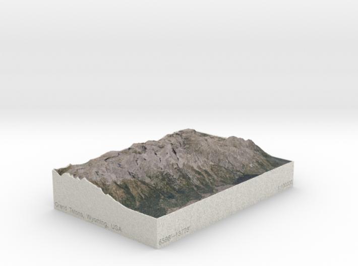 Grand Tetons, Wyoming, USA, 1:100000 Explorer 3d printed
