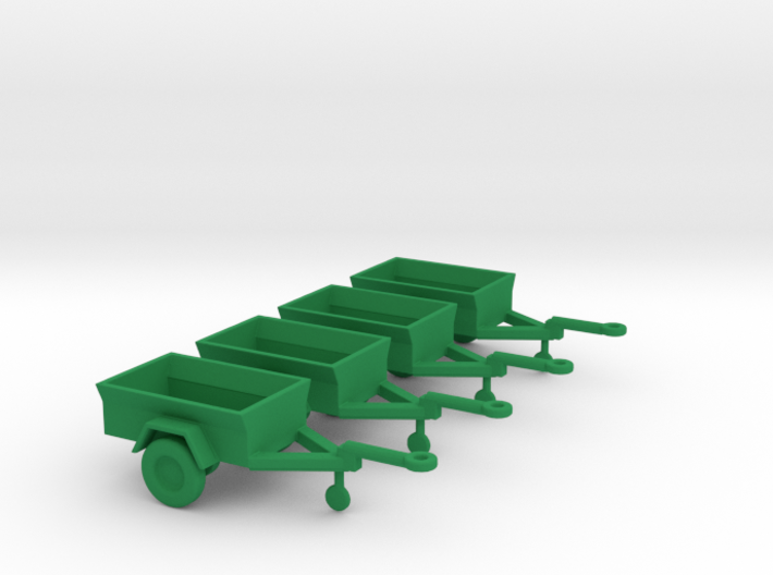 1/100 Scale M416 Jeep Trailers (4) 3d printed