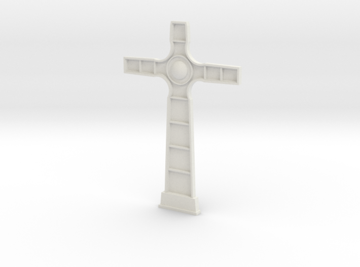 18th century cross face 3d printed