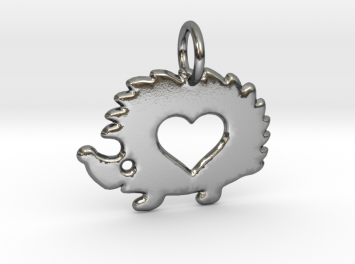 Small hedgehog pendant 3d printed