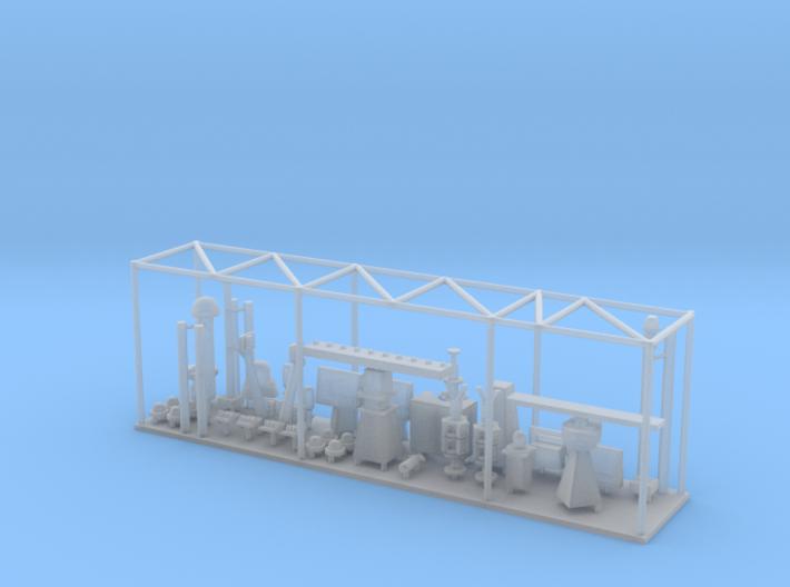 1/120 Burke Mast Details 3d printed