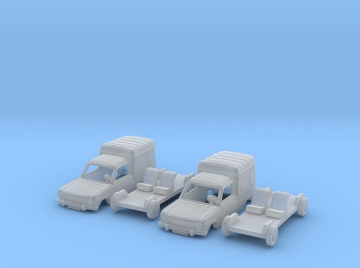 SET 2x Simca 1100 VF2 (N 1:160) 3d printed
