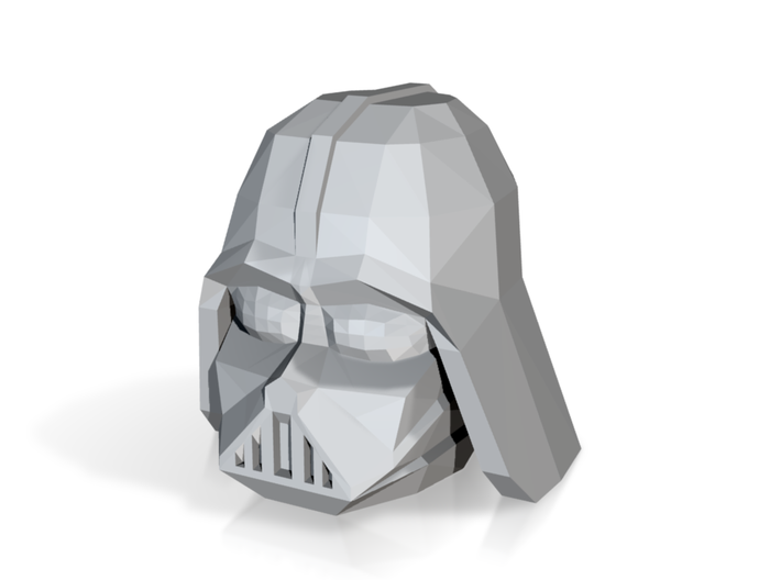 Darthvader Lowpoly Head 3d printed