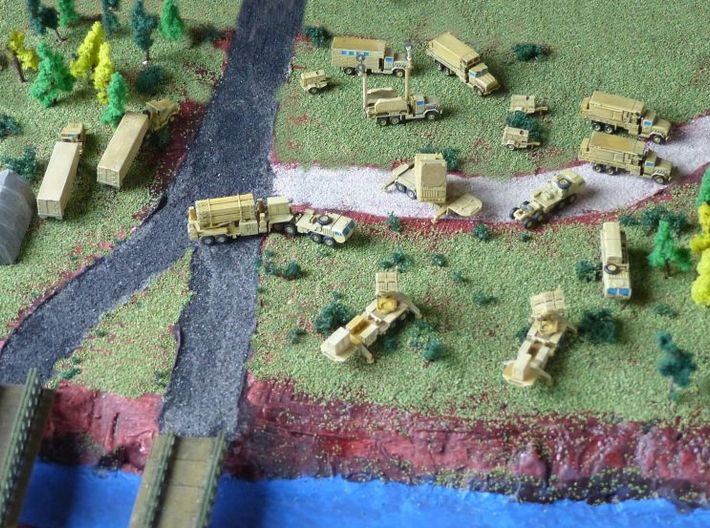 MIM-104 Missile Battery Trucks 1/285 3d printed Patriot Missile Battery by MoM