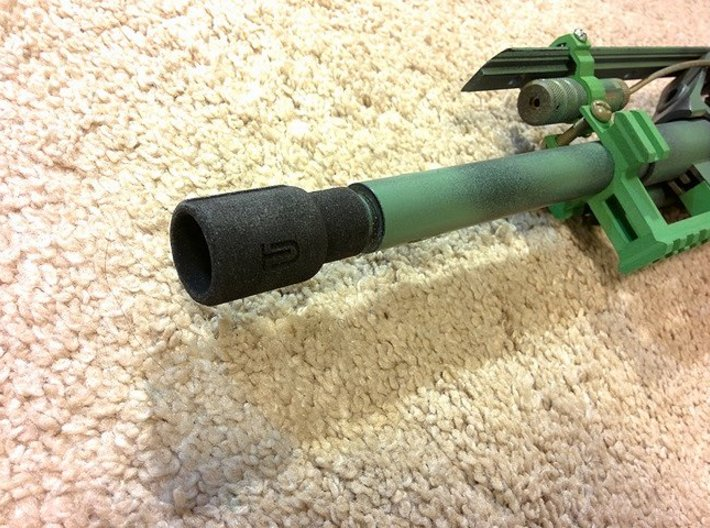 Airsoft Muzzle Amplifier (14mm Self-Cutting Thread 3d printed