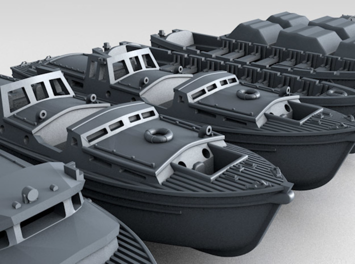 1/350 WW2 RN Boat Set 3 without Mounts 3d printed 3d render showing product detail
