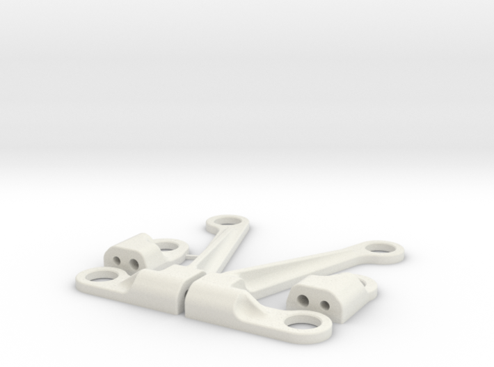 Xray X1 Upper arms kit with fast camber regulation 3d printed