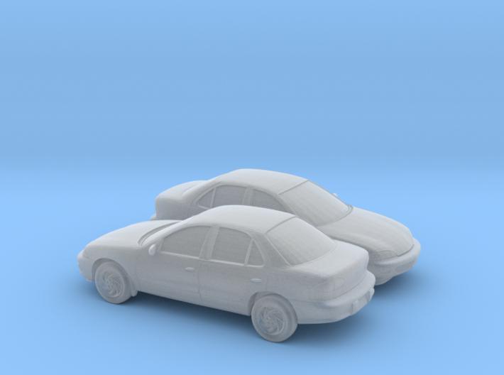 1/160 2X 1998 Chevrolet Cavalier Sedan 3d printed