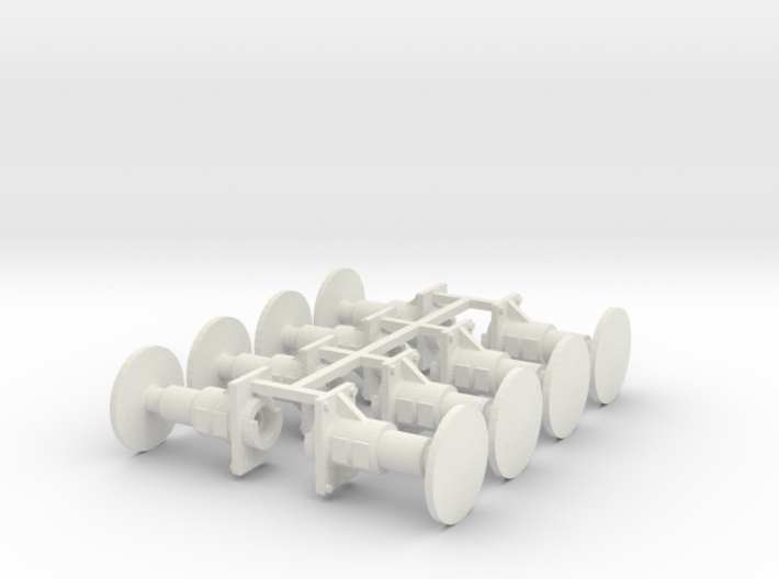 7mm Oleo Wagon Buffer X8 3d printed
