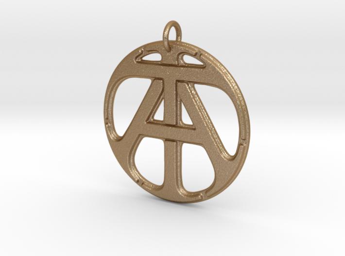 Monogram Initials AT Pendant 3d printed