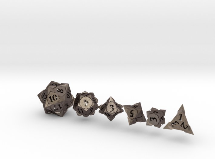 'Starry' Gaming Die Set: D20, D12, D10, D8, D6, D4 3d printed
