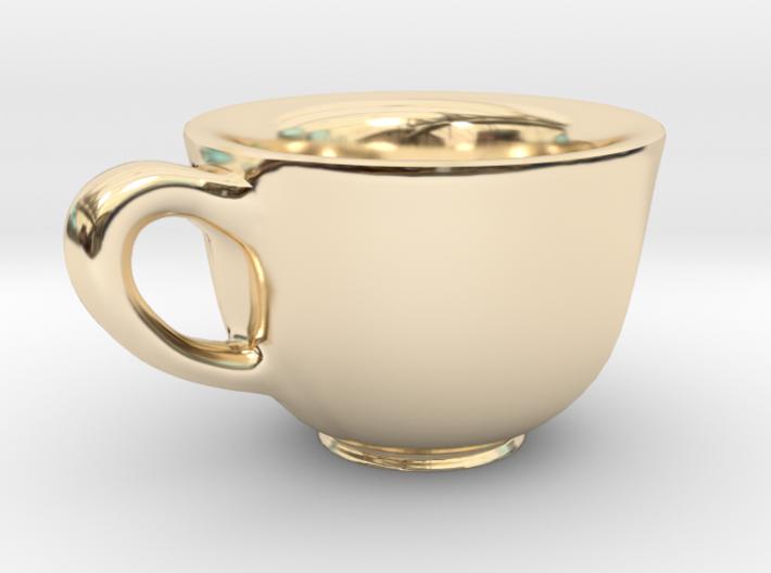 Teacup Bracelet Charm 3d printed