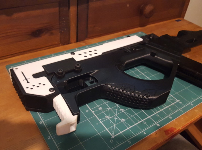 Gladius V1 Grip (part 3 of 5) 3d printed Fitted