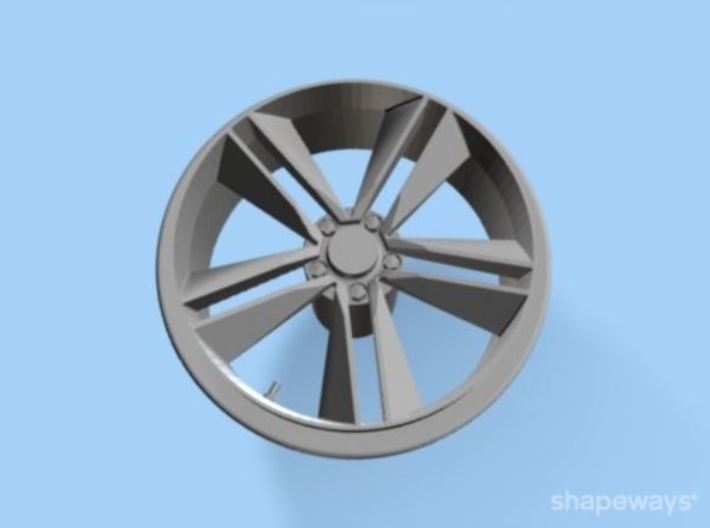 '15-'17 Mustang Ecoboost wheel for 1/25 Revell kit 3d printed '15-'17 Mustang Ecoboost wheel for 1/25 Revell kit #1685