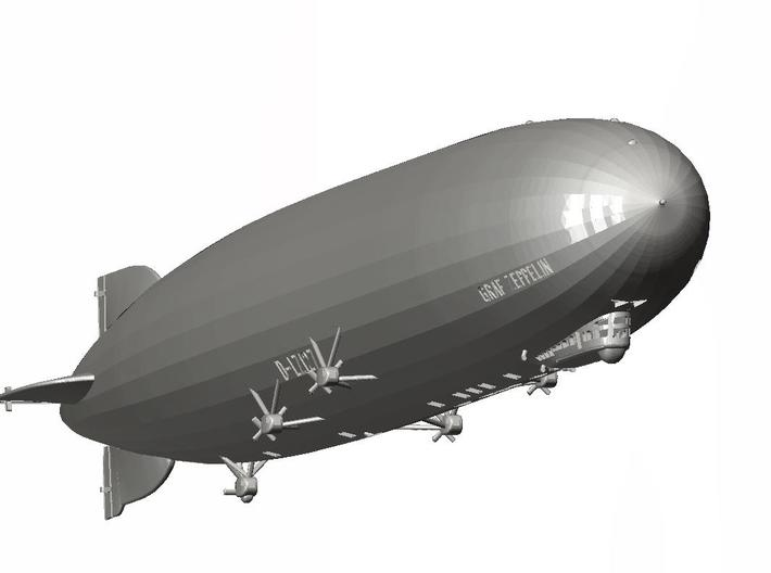LZ127 Graf Zeppelin (with markings) 1/700 scale 3d printed CAD drawing 3/4 view