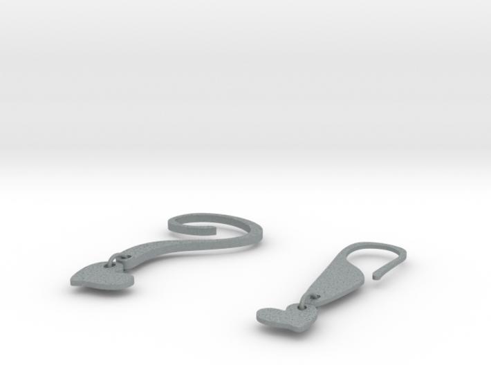 EARRINGS POINT 3d printed