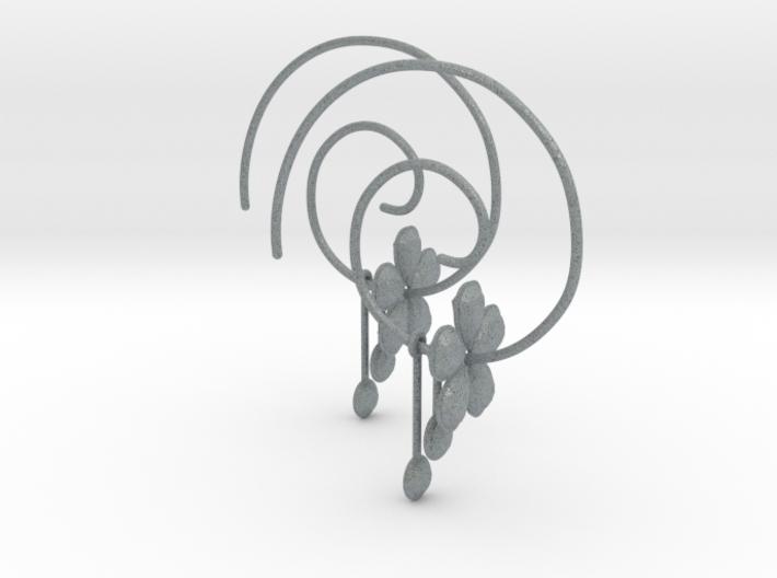 EARRINGS SPIRAL 3d printed