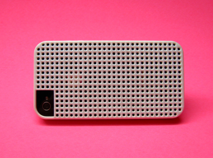 Somi for iPhone 4/4s, a case you can cross stitch  3d printed Back view