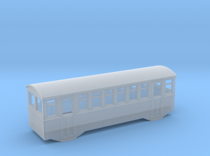 1/80 railbus trailer 3d printed