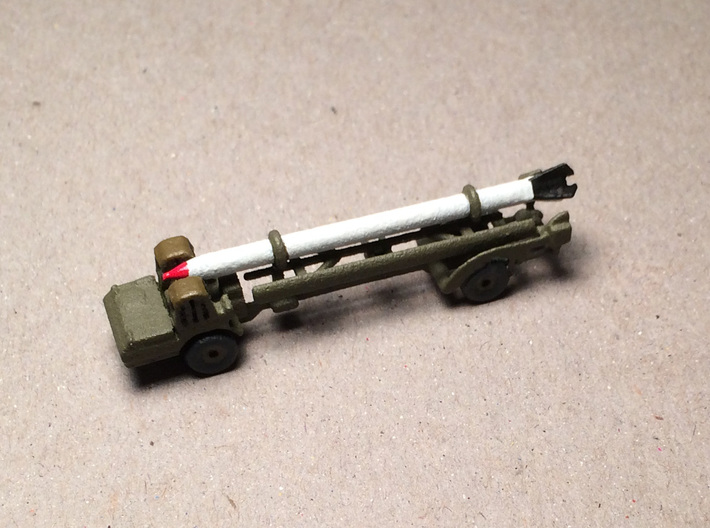 1/285 Scale MGM-5 Corporal Missile And Transporter 3d printed