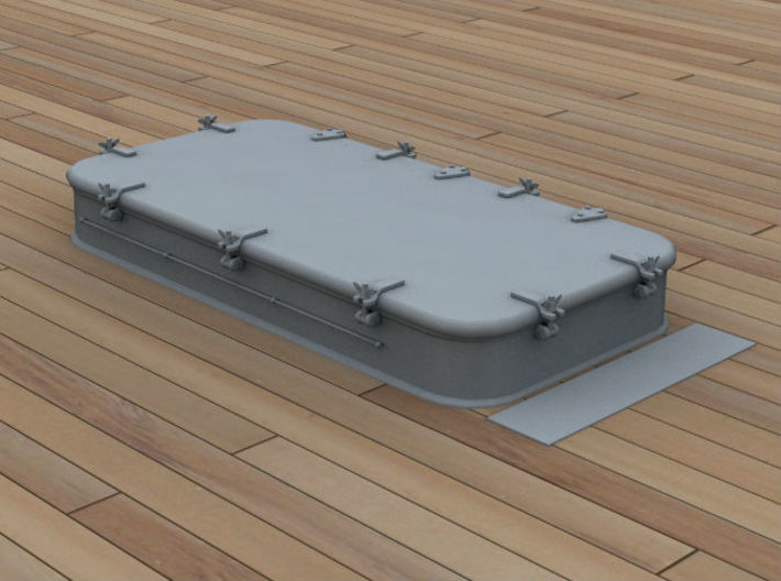 1/96 IJN Deck Hatch - Type Used On Rear Deck 3d printed