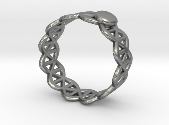 Ring - Silver with Unique Stylish Pattern 3d printed Ring - Silver with Unique Stylish Pattern