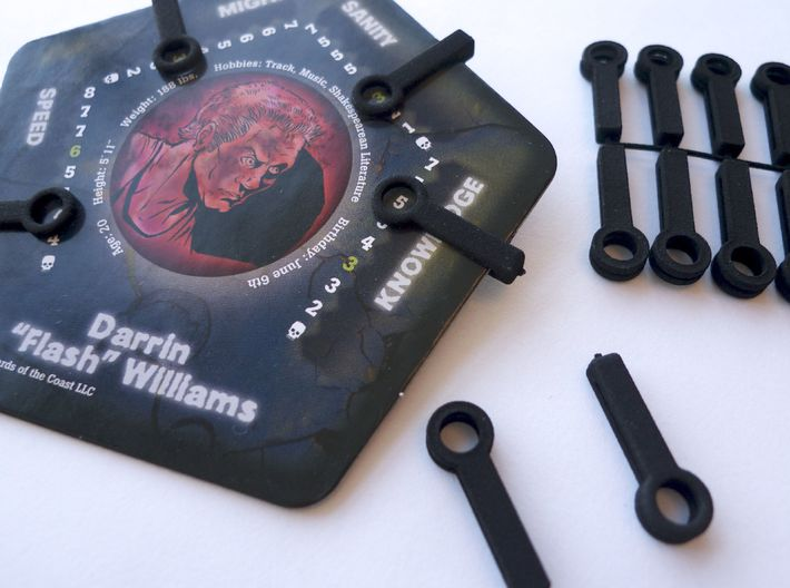 Replacement Clips Betrayal at House on the Hill 3d printed Clips come connected together on a ring
