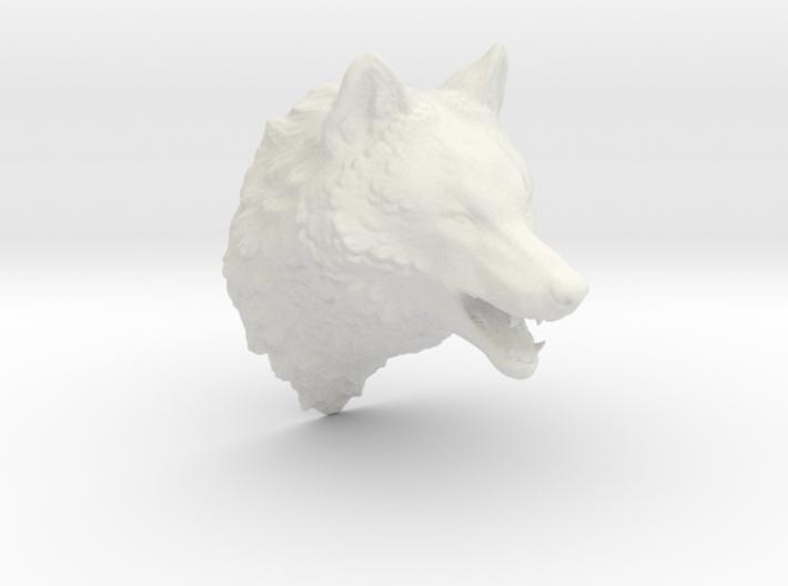 Woolf head 3d printed