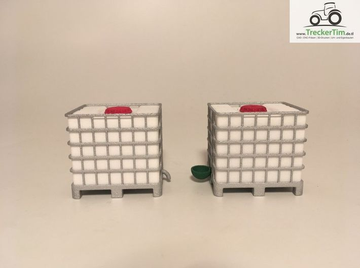 Tank 1000l IBC Container 1:32  3d printed