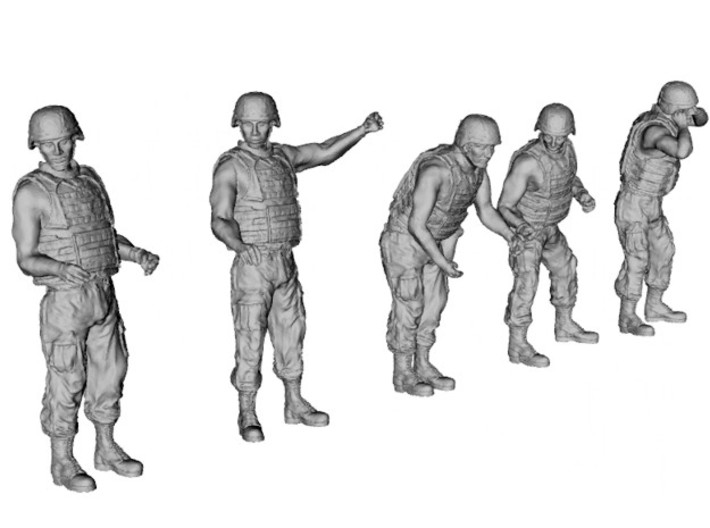 1-32 US Arty Crew Hot Weather Set5 3d printed