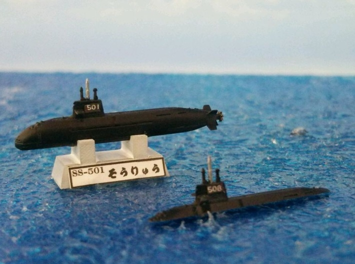 1/2000 JS Sōryū-class submarine 3d printed painted and decal