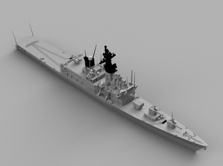 1/2000 JS Shirane-class Helicopter destroyer 3d printed Computer software render