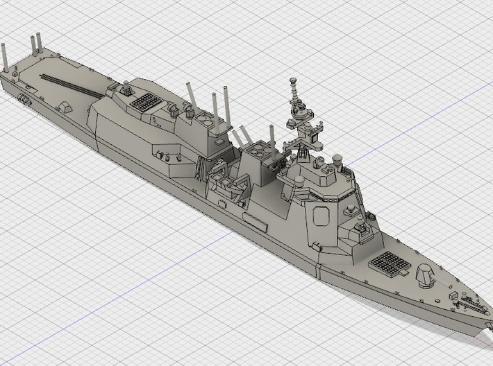 1/2000 JS 27DDG 3d printed Computer software render
