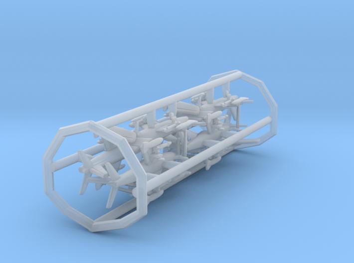 FJ-3M w/gear x8 (FUD) 3d printed