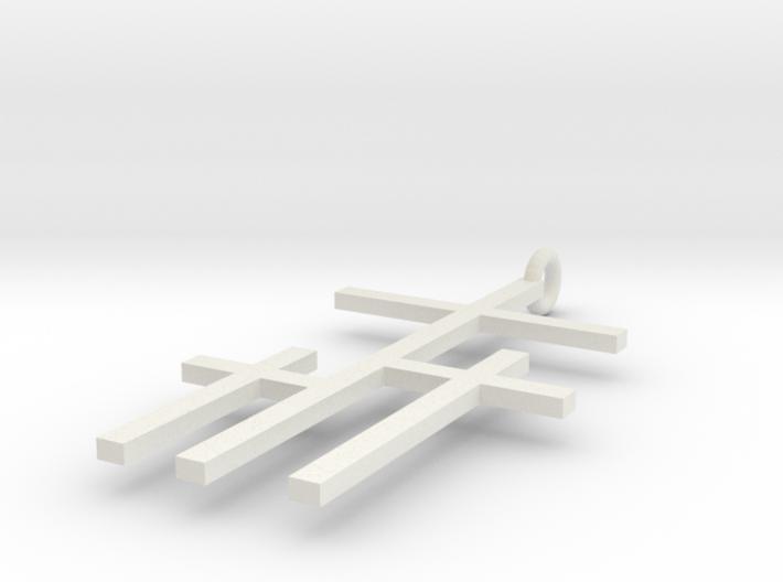 crossed crosses 3d printed