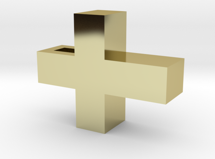 Small Simple Cross Pendant 3d printed