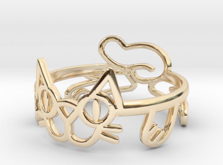 Frisky Cat Ring 3d printed