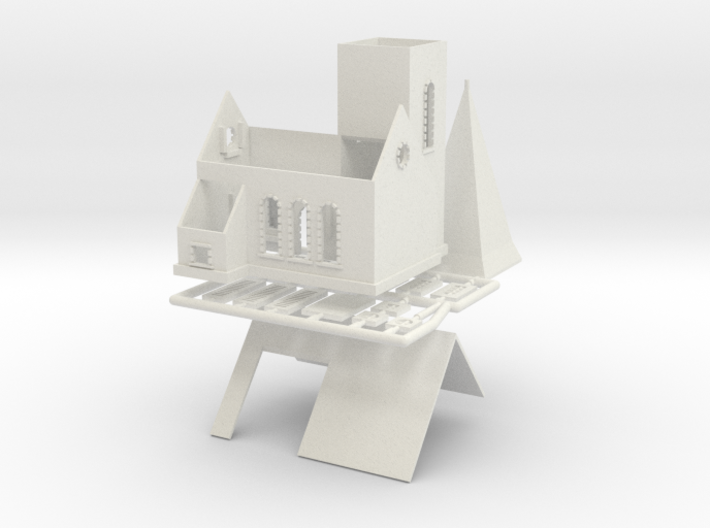Dorfkirche - 1:220 (Z scale) 3d printed
