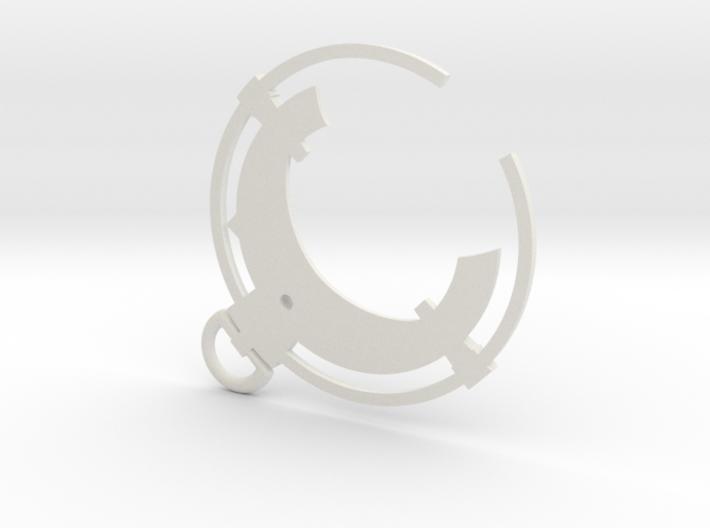 Dishonored - Black Bone Charm  3d printed