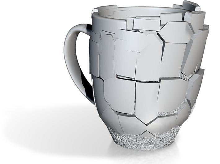 Fractured Mug 3d printed