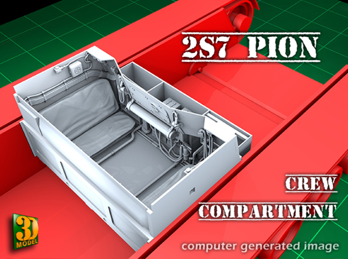2S7 PION interior set 3 3d printed 2S7 PION/MALKA crew compartment