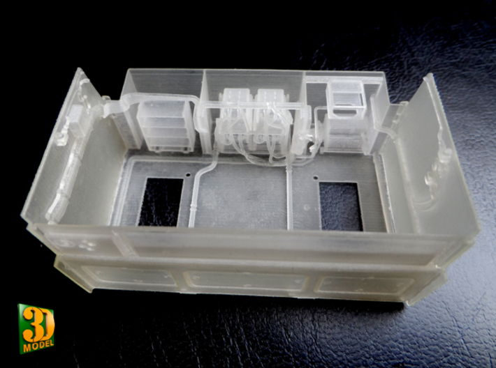 2S7 PION interior set 3 3d printed 2S7 PION/MALKA crew compartment - print put together