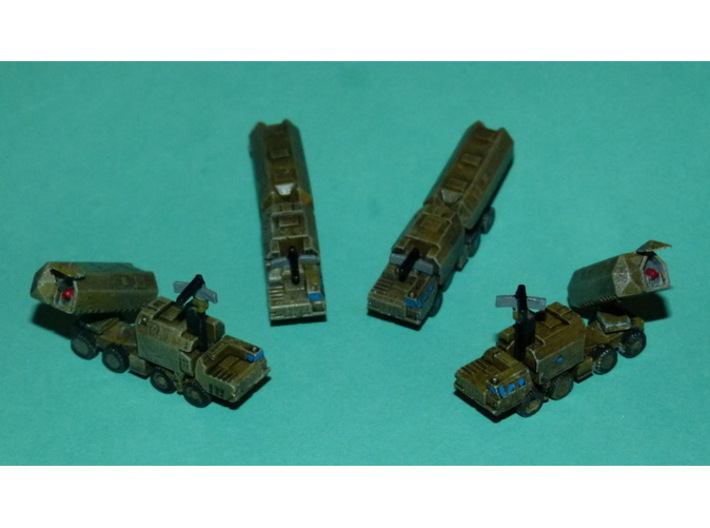 3P51M Rubezh SSC-3 Styx Battery 1/200 3d printed 1/285 Models shown