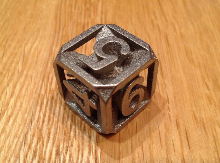 Expanding Dice 3d printed