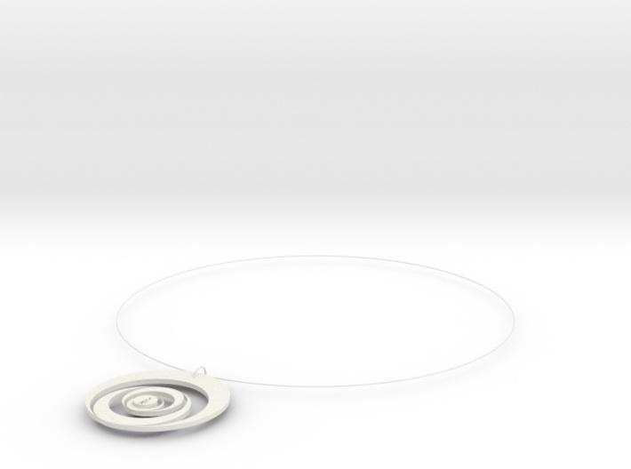 新月項鍊moon necklace 3d printed