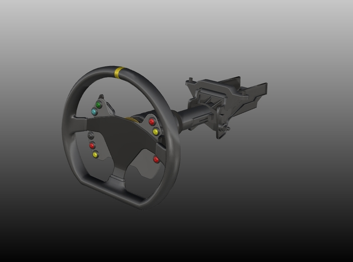 Steering Wheel P-CUP17 Type - 1/10 3d printed